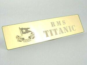 RMS-TITANIC-Metal-NAMEPLATE-re-Trumpeter-1-200-1-350-1-450-Cruise-Liner-Kit