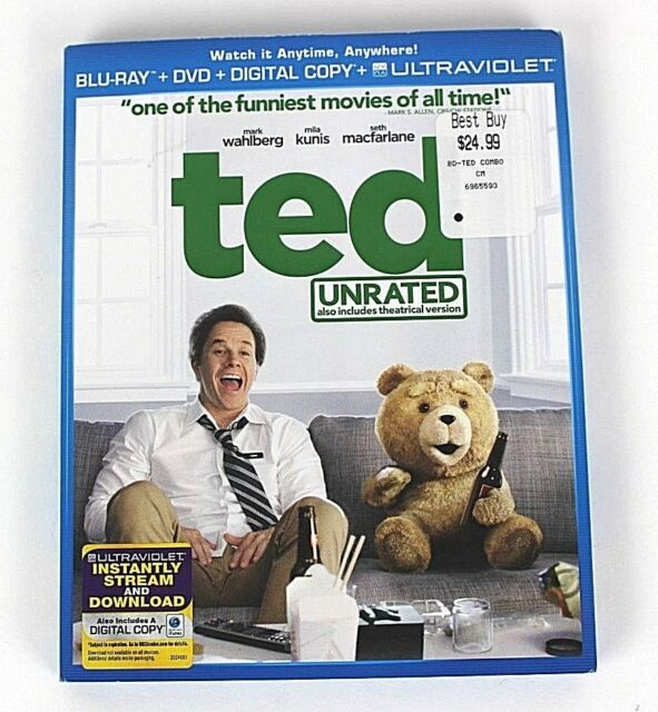 Ted Unrated Blu-ray Disc 2012 2-Disc Set Includes Digital Copy DVD Bluray