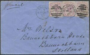 Victoria-26-Mar-1884-MELBOURNE-to-U-K-cover-franked-6d-Transit-Time-42-days
