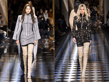 **BALMAIN** Suede Thigh High Boots **RUNWAY 2016**