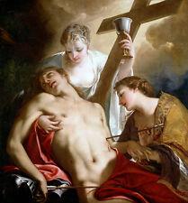 St. Sebastian Antonio Bellucci Bibel Kirche Soldat Heiliger Kreuz B A3 00628