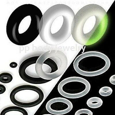 Replacement Rubber O-Rings Orings Spare For Ear Tunnel Taper//Plug