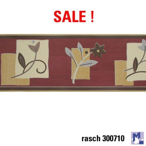 Sale Rasch Wallpaper Border Border 300710 Flowers Red 5m Border New Boxed