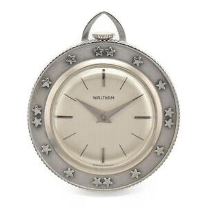 WALTHAM-helvetia-Silver-Dial-SS-Hand-Winding-Pocket-watch-B-97107