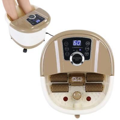 500 W Fußsprudelbad Fußmassage Fußbadewanne mit Heizung Fuß-Massage-Gerät Fußbad