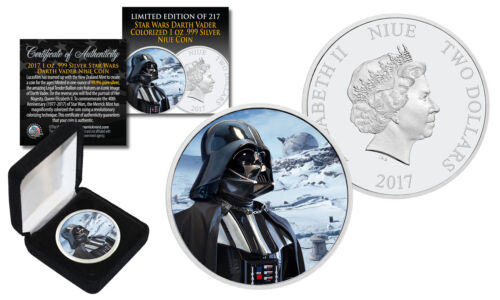 2017 NZM 1 oz Pure Silver BU Star Wars DARTH VADER Coin with HOTH Snow Backdrop