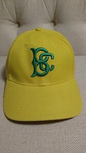 5f92cfbf7 Details about Brooklyn Cyclones BRIGHT YELLOW BC LOGO BASEBALL HAT BALL CAP  2015 NY Mets