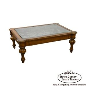 Image Is Loading Ethan Allen Devereaux Tuscan Style Coffee Table B