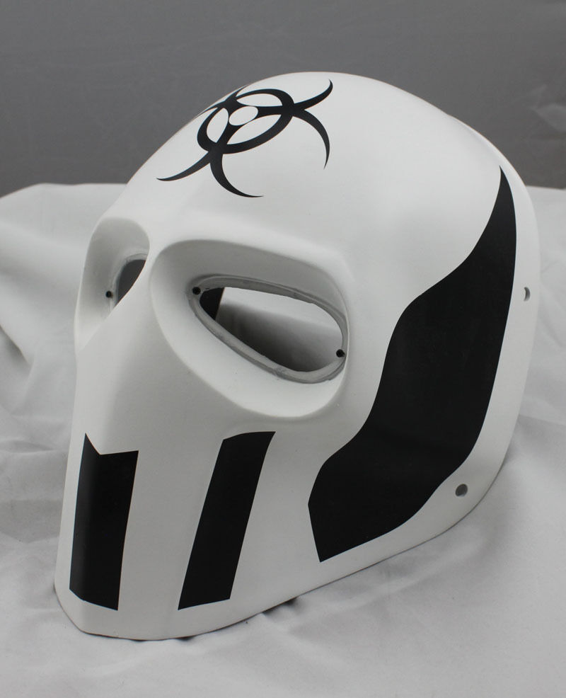COOL White PROP Paintball Airsoft Full Face PC Lens Eye Predection Skull Mask