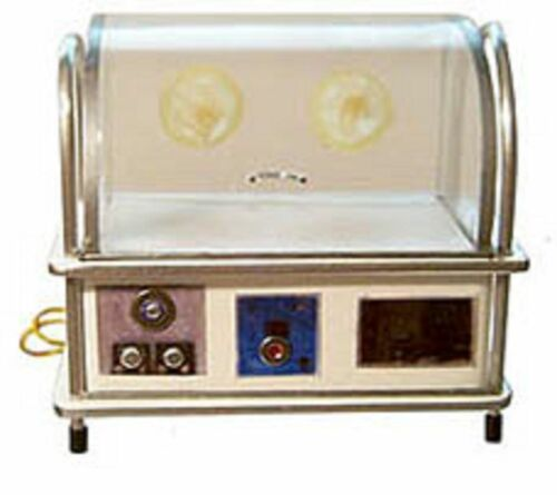 Dollhouse miniature handcrafted Medical incubator baby infant child metal 1//12th