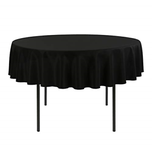 70 Inch Round Table Cloth.Details About E Tex 70 Inch Round Tablecloth 100 Polyester Washable Table Cloth Black