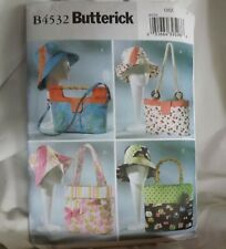 Butterick 4697 BAGS TOTES HATS Purses Cloche Scarf Misses Sewing Pattern UNCUT