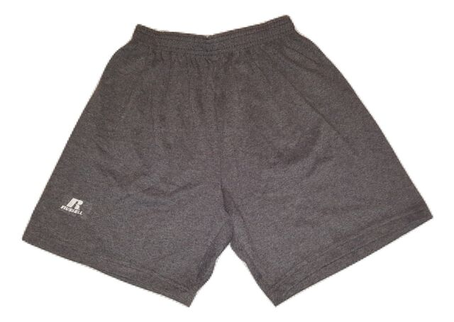 Shorts Athletic Workout Elastic Waistband Inside Drawstring Youth Boys Russell