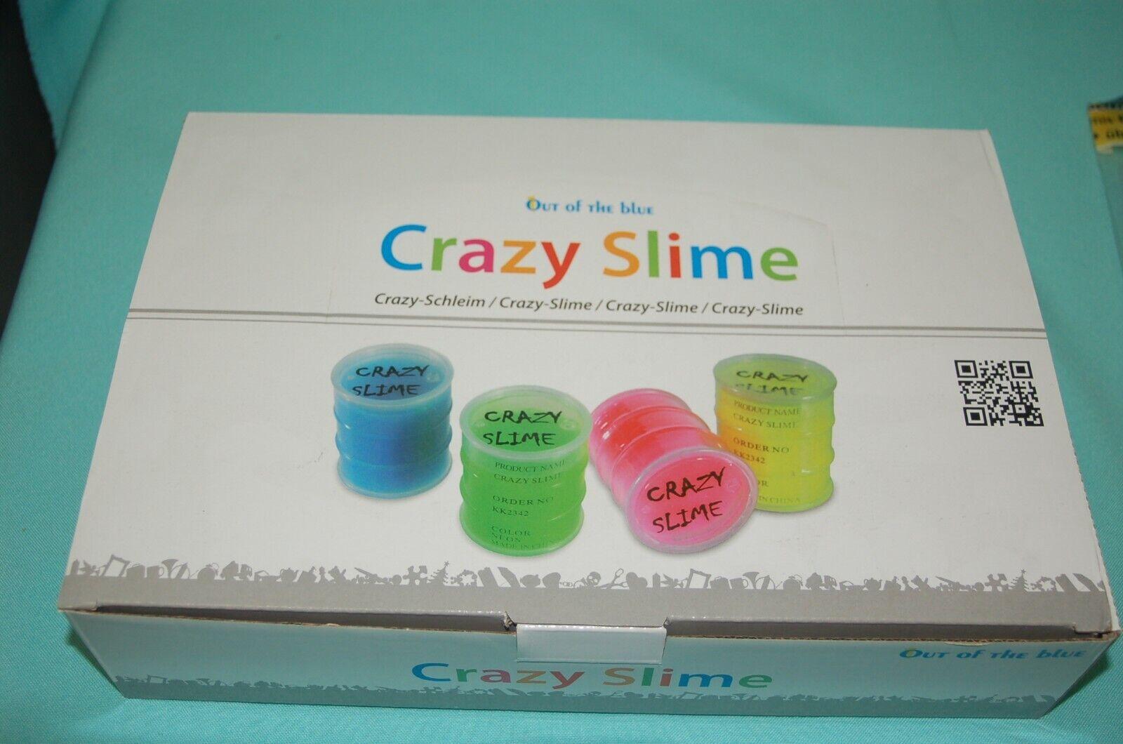 1 Display  Out of the Blau - Crazy Slime Schleim Neonfarben in 24 Ölfässern