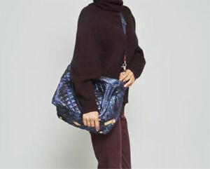 02168fa1fb90 NWT Mz Wallace Medium Quilted Sutton Bag Tote Dark Blue Camo | eBay