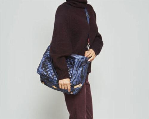 NWT Mz Wallace Medium Quilted Sutton Bag Tote Dark Blue Camo