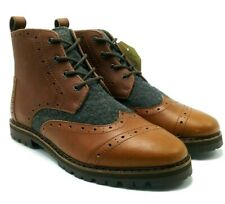 68ecbfca6b4 item 8 TOMS Brogue Men s 10009178 Cognac Brown Leather Grey Wool Oxford  Boots US 7