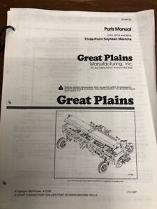 Details about Great Plains 1515 | 2015 | 2515 3 pt Drill Soybean Machine  Parts Manual