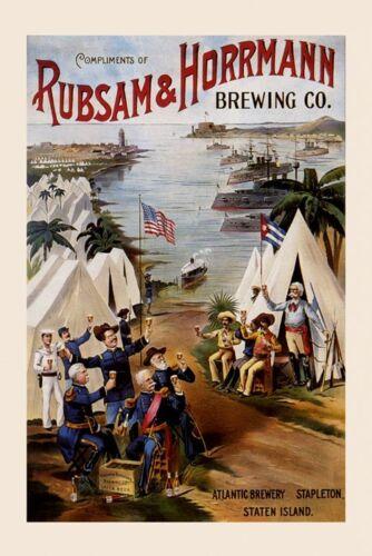 Rubsam Horrmann Staten Island Brewing American Beer Vintage Poster Repro FREE SH