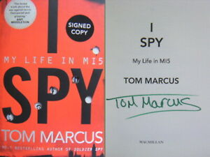 Signed-Book-I-Spy-My-Life-in-MI5-by-Tom-Marcus-Hardback-1st-Edition-2019