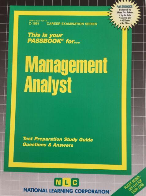 NLC - Management Analyst(Passbooks) - ** Brand New ** -Career Examination Series