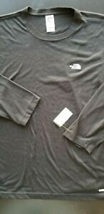 NORTH-FACE-Men-Vapor-Wick-Performance-Fitted-Long-Sleeve-Hiking-Shirt-XL-Black
