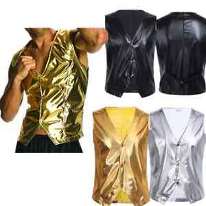 Men-Costume-personality-Club-singer-vest-rock-Bar-DJ-sequined-Waistcoat-jacket