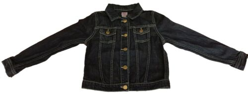 Girls F /& F Dark Blue Denim Jacket With Metal Buttons Age 8-9 and 11-12