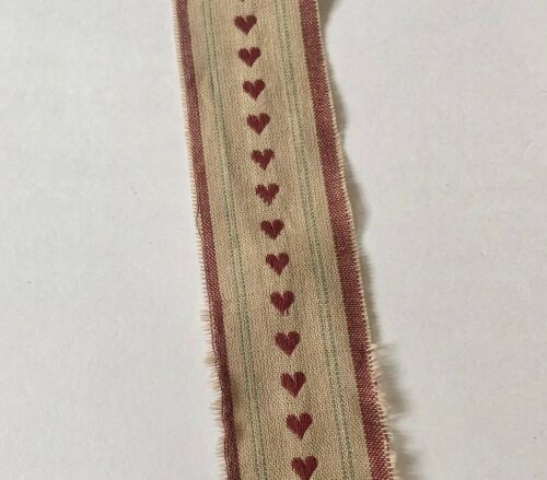 3m Rustic Primitive Hearts Ribbon 40mm Wide Aussie Seller