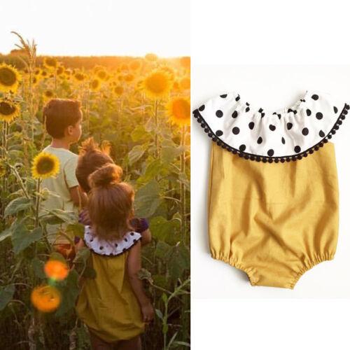 Summer Baby Girl Newborn Floral Cotton Bodysuit Romper Jumpsuit Outfit Clothes