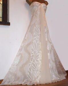Maxi 12 Josephine Uk Gold Silk Ivory ✩ Stunning Monsoon Evening Wedding Dress qYZ6Aw