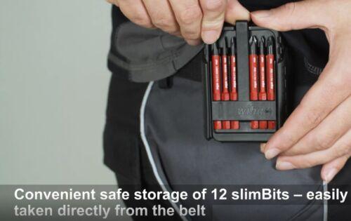 Wiha Empty Slimbit clip on VDE Tournevis Boîte de rangement Case POUR 12 bits 43164