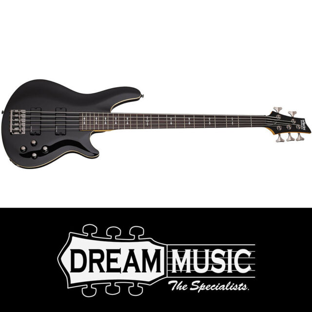 Schecter SCH2093 Omen-5 Black 5 String Bass Guitar RRP$1099