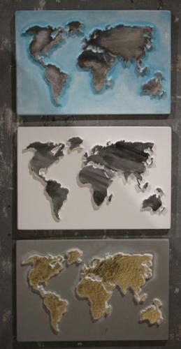 Gießform Weltkarte Globus A4 aus Kunststoff für Beton Gießmassen ua Rayher 36098