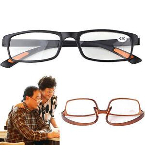 Square-Frame-No-Line-Bifocal-Progressive-Clear-Lens-Reading-Glasses-Unisex-LJ