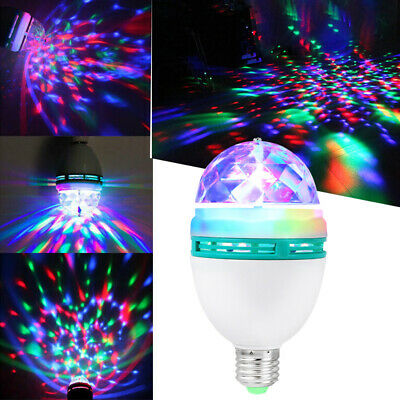 for Home Decoration Bedroom Christmas Easy to Install Automatic Rotation and Color Change Full-Color Party Lights 3-Color Stage Rotating LED Bulbs Rotating Colorful Lights