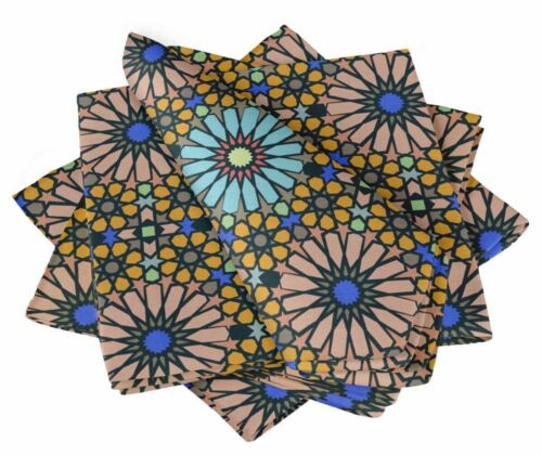 S4Sassy Mosaic Parties Cloth Table Linen Re-Usable Dinner Napkins Set-MS-8B