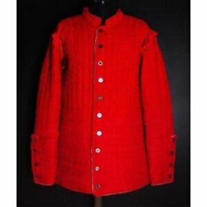 Medieval Armour Thick padded red Gambeson play movies theater custome sca