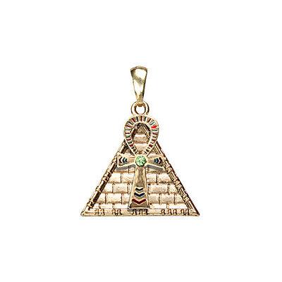 ANKH PYRAMID PENDANT NECKLACE. SUPERIOR QUALITY EGYPTIAN JEWELRY