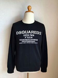 Details about Dsquared2 Caten Twin Mens Sweatshirt Jumper Pullover Size LXL