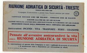 CARTA-ASSORBENTE-pubblicitaria-RIUNIONE-ADRIATICA-DI-SICURTA-039-TRIESTE-anni-039-20