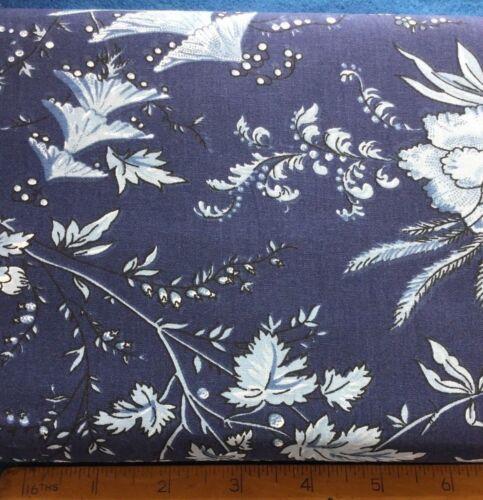 Floral  Block Print Mas D/'Ouvan Sati Indigo Blue