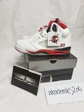 ef373b2fe23c Nike Air Jordan V 5 S Sz 8.5 Fire Red Vtg OG Original 1990 White ...