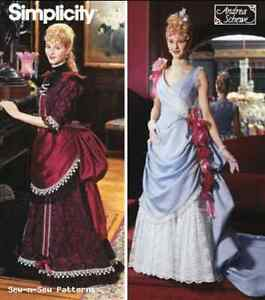 Simplicity-5457-SEWING-PATTERN-6-12-Victorian-Saloon-Costume-Bustle-Titanic-OOP