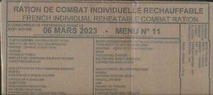 #  2023 Ration de combat francaise Menu 11 RCIR-MRE 24 H 00