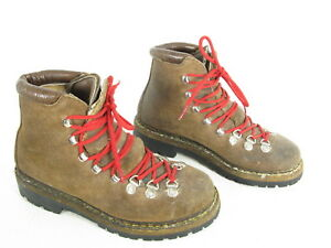 41e70b2eb5f Details about THE ALPS Fabiano Womens Boots Sz 6.5 M Brown Suede Hiking  Mountaineering Italy