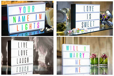 CINEMATIC LIGHT BOX - cinema style retro personalise sign wedding party gift