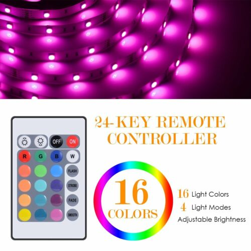 IR Remote Controller 5050 RGB LED Strip Flexible Lights Waterproof 5M 150 Leds
