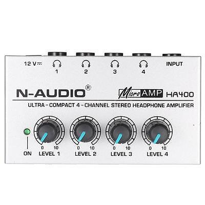 HA400 Ultra-compact 4 Channels Mini Audio Stereo Headphone Amplifer H0R3