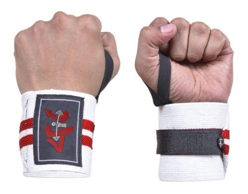 Alimentation 4Fit Poids de levage poignet Wraps soutient Gym Entraînement Fist Courroies r/&w